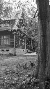 Drewniany rodzinny dom