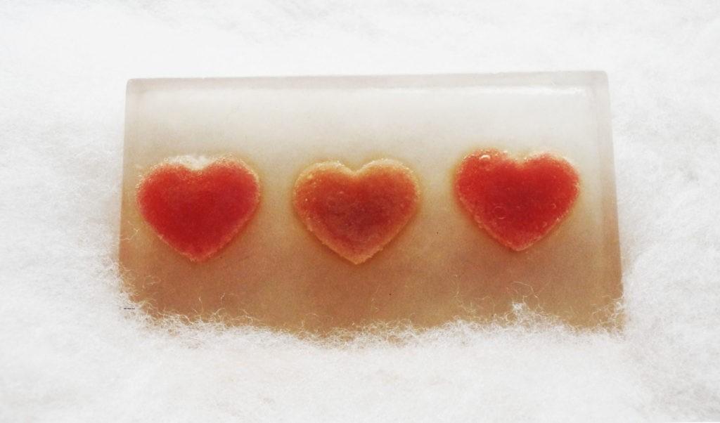 Mydełko glicerynowe - urocze serduszka